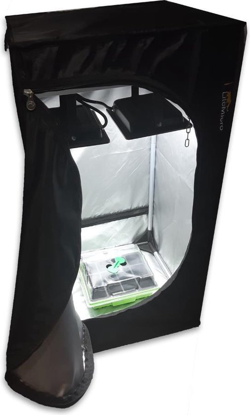 Complete kweektent 40x40x80cm incl. LED verlichting
