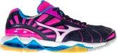 Mizuno Wave Tornado X Sportschoenen - Maat 40 - Vrouwen - donker blauw/roze/wit