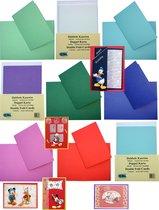 Dubbele Kaarten Set - 40 Stuks - 6 Kleuren - Met witte enveloppen - Maak wenskaarten voor elke gelegenheid