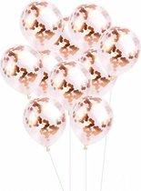 Confetti Ballonnen -18 Stuks - Rose Goud - Ideaal Voor Baby Shower, Bruiloft, Verjaardag, Feestje