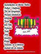 Geschenkpakete mit h bschen B ndern Malbuch + Gru karten F r alle Gelegenheiten Herzliche Gl ckw nsche Geburtstag Ferien neues Baby Hochzeiten Danke Arbeit Gesundheit Wohnen Verwenden, um zu dekorieren Geschenk oder als Andenken