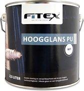 Fitex-Hoogglans PU-Ral 9016 Verkeerswit 2,5 liter