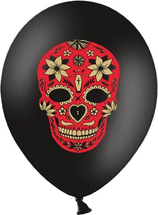 Ballonnen Halloween Dia de los Muertos 50 stuks