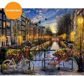 Schilderenopnummers.com® - Schilderen op nummer volwassenen - Paint by number - Amsterdam - Nederland - Stad - DIY - Verven