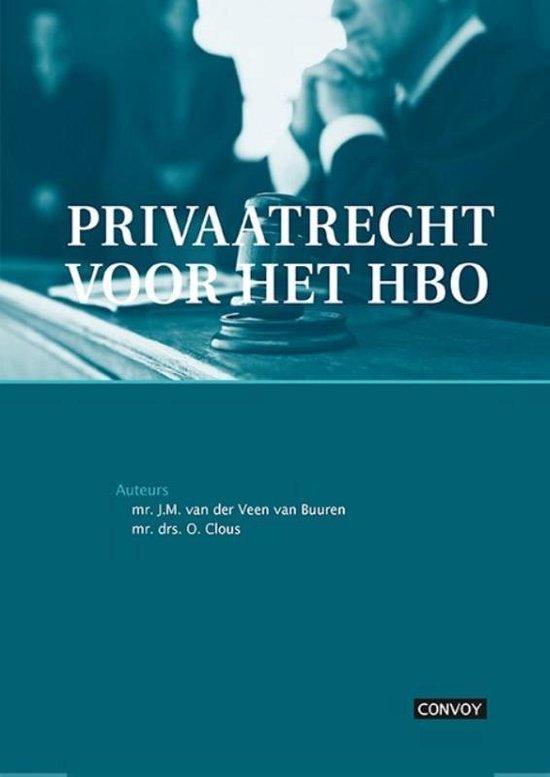 Privaatrecht voor het HBO - J.M. van der Veen - van Buuren | Readingchampions.org.uk