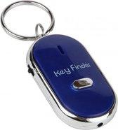 Je sleutels nooit meer kwijt met de Just Whistle Sleutelvinder - Fluiten en Klappen - Key Finder Sleutelhanger - Incl Batterijen - Blauw