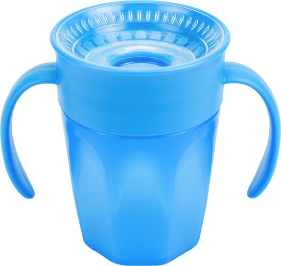 Dr. Brown's Cheers 360 Cup Drinkbeker - Met Handvat - 200 ml - Blauw