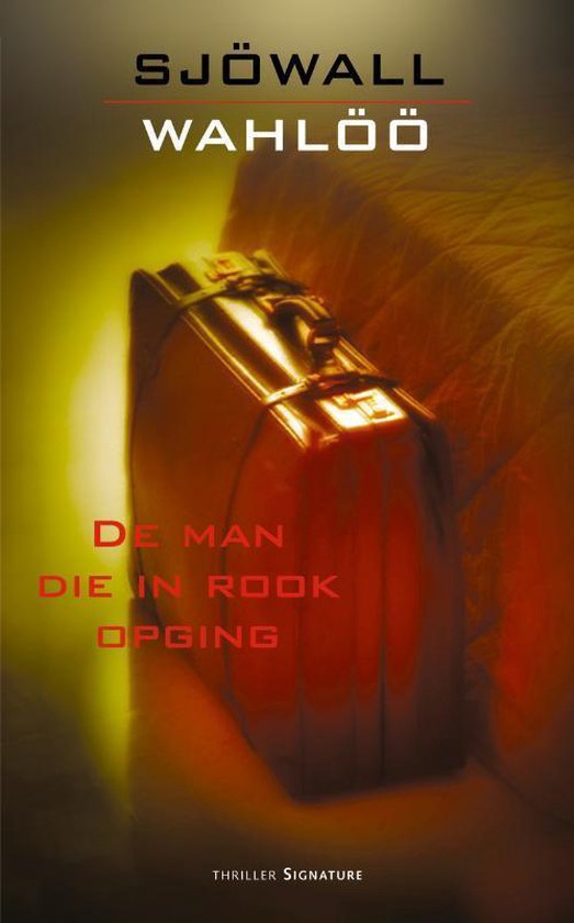Cover van het boek 'De man die in rook opging / druk 1' van M. Sjowall