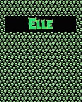 120 Page Handwriting Practice Book with Green Alien Cover Elle