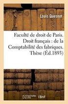 Faculte de droit de Paris. Droit francais