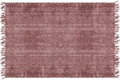 Carpet Washed cotton rectangle warm red