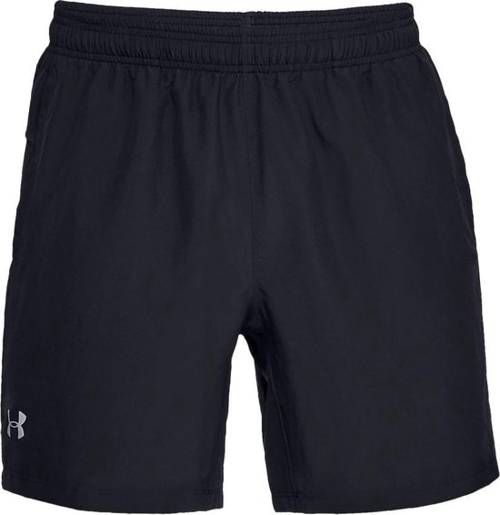 Under Armour Speed Stride 7'' Woven Short Heren Hardloopbroek - Zwart - Maat M