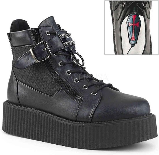 EU 40 = US 8 | V-CREEPER-566 | 2 PF Oxford Creeper Bootie, Inner & Outer Side Zip