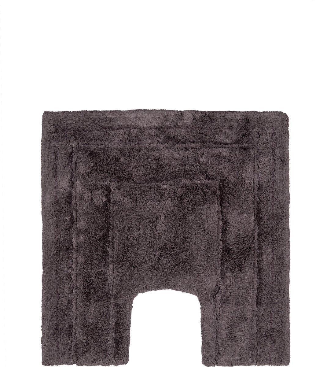 Caress - WC-mat - Donkergrijs - 59 x 59 cm - Casilin