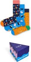 Happy Socks Happy Birthday Giftbox - Verjaardag - Maat 41-46