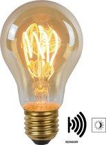 Lucide LED BULB TWILIGHT SENSOR - Filament lamp Buiten - Ø 4 cm - LED - E27 - 1x4W 2200K - Amber