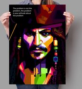 Poster Pop Art Jack Sparrow - 50x70cm