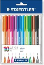 Staedtler Ball 432 balpen M - set 10 schrijfkleuren