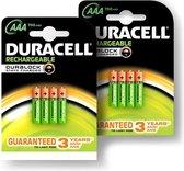 Duracell AAA Oplaadbare Batterijen - 750 mAh - 8 stuks