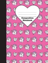 Composition Notebook Unicorn Diamond Back to School