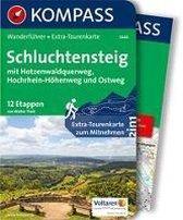 WF5444 Schluchtensteig, mit Hotzenwaldquerweg, Hochrhein-Höhenweg und Ostweg Kompass