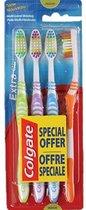 Colgate Extra Clean 4-Pack | Tandenborstel | Reistandenborstels | Gekleurde Tandenborstel | Goedkope Tandenborstels |Colgate |