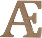 Letter, Æ, h: 8 cm, dikte 1,5 cm, MDF, 1stuk