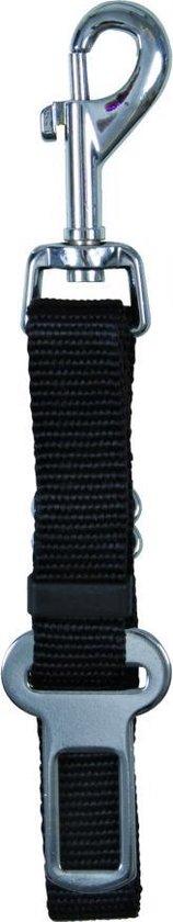 Trixie - Veiligheidsgordel voor in de auto - Tuigje - 60 cm x 20 mm - Zwart
