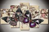 Diamond Painting Pakket Prachtige Vlinders - 5 Luik - Volledig - Diamond Painting - Vierkant  - Dotz - SEOS Shop ®