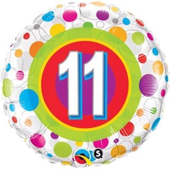 Folieballon met leeftijd 11
