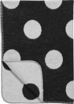 Meyco Black Label Organic Big Dot - Wiegdeken 75x100 cm - Zwart/Wit