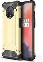 OnePlus 7T Hoesje - Armor Hybrid - Goud