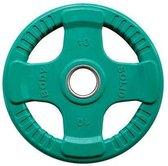 Body-Solid Gekleurde Rubberen Olympische Halterschijven 50 mm ORCK - per stuk - 10 kg - Groen