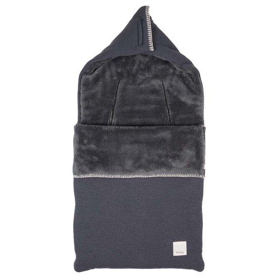 Product: Koeka Voetenzak Runa teddy 0+ (3/5 punts) - dark grey, van het merk Koeka