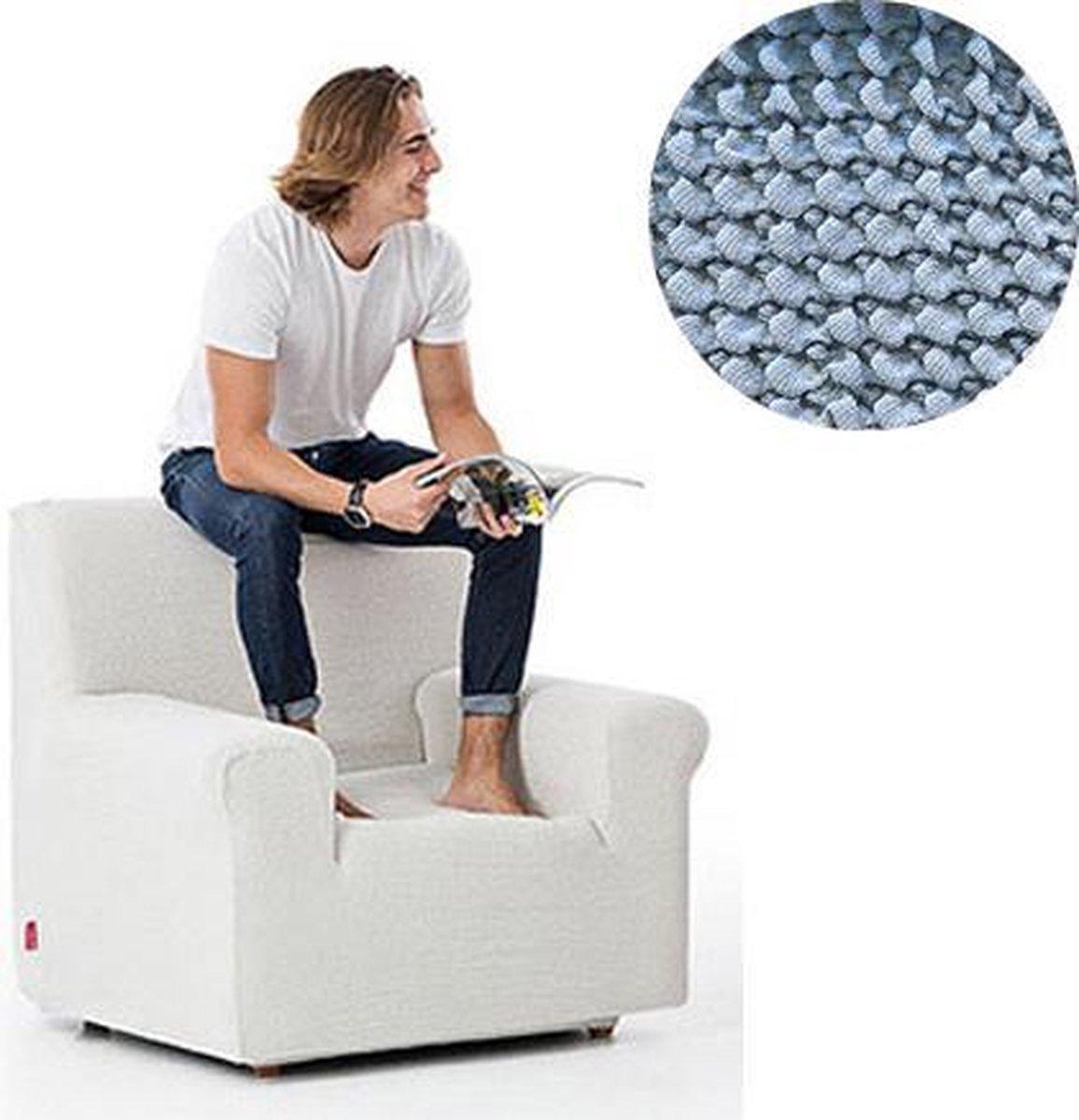 Milos meubelhoezen - Hoes voor fauteuil 70-110cm - Licht blauw - Verkrijgbaar in verschillende kleuren!