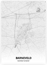 Barneveld plattegrond - A4 poster - Tekening stijl