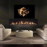 Luxe Wanddecoratie - Foto - Hoogste kwaliteit 3mm Plexiglas met Dibond - 120 x 180 - UV Filter - Aluminium Ophangsysteem - 'Gold Velvet'