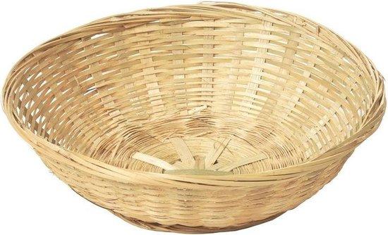 Ronde rieten/bamboe mand/schaal 30 x 9 cm - Keuken artikelen fruitschalen/manden - Huis decoratie