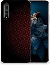 Honor 20   Huawei Nova 5T TPU bumper Geruit Rood