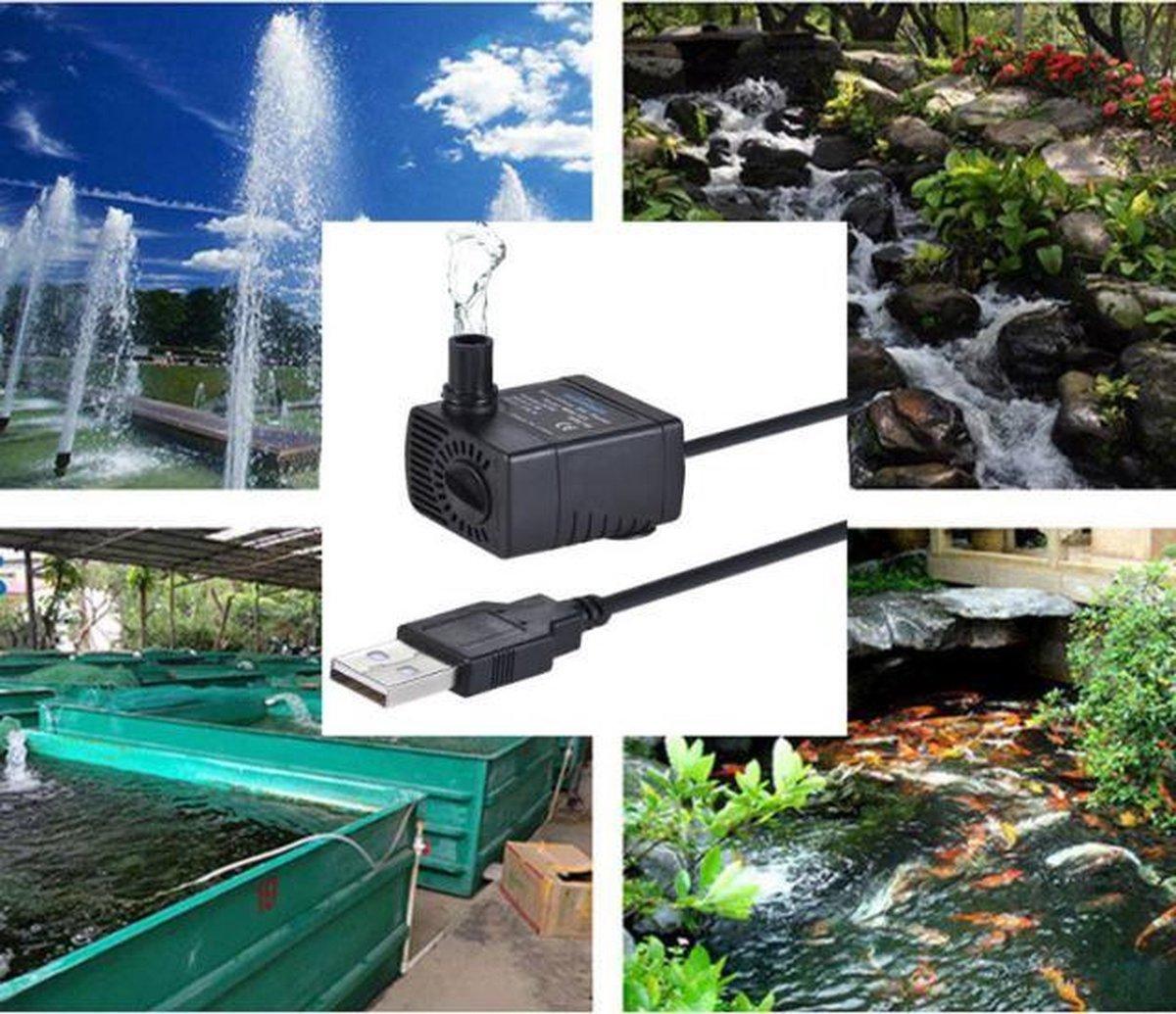 Aquariumpomp - Met USB aansluiting - 1.5 M - Fonteinpomp - Luchtpomp voor vijver, aquarium of vissen