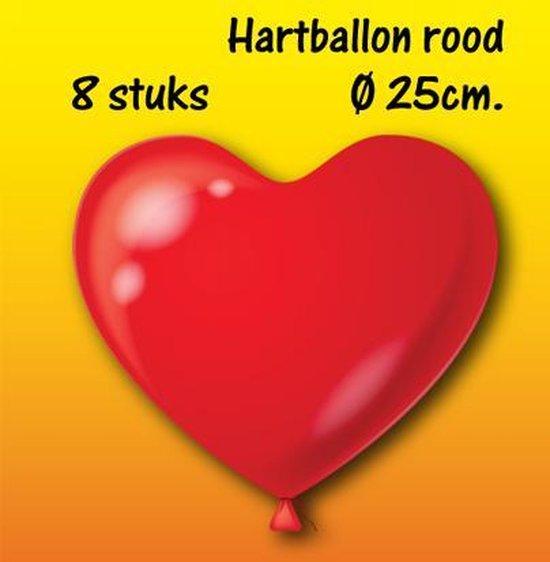 Hart ballon rood H-10 (8 stuks)