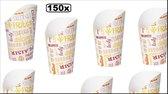 150x Karton Friet Container tasty 480ml  - Patat friet frites bakje snack bak