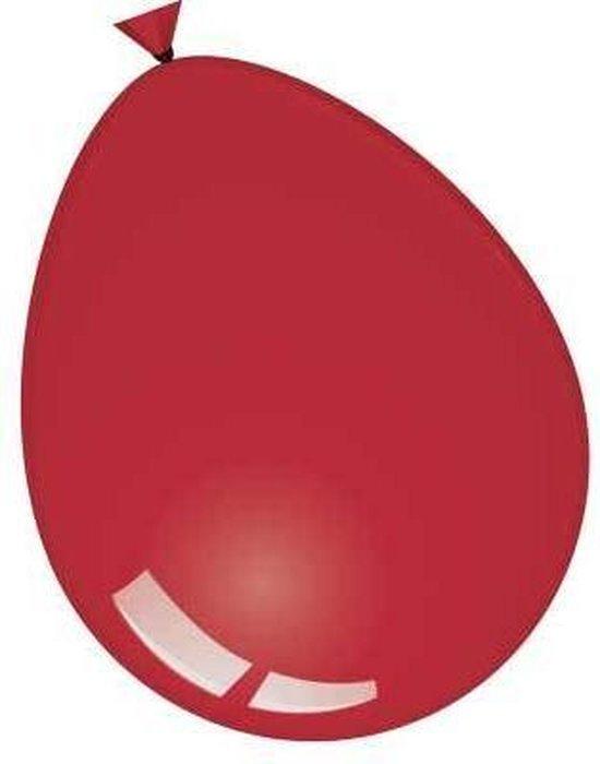 Ballonnen 30cm deco kristal bordeaux (10