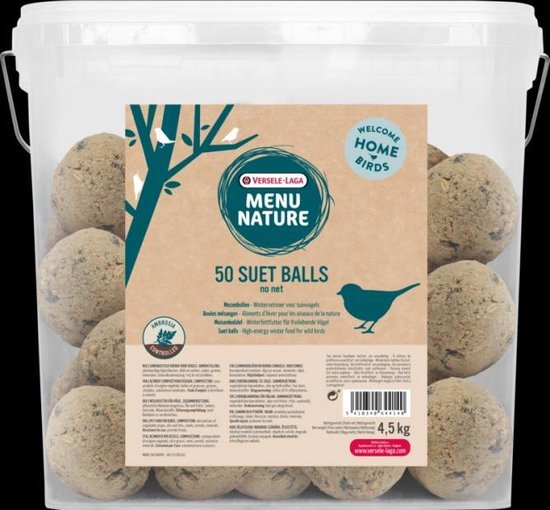 Versele-Laga Menu Nature - Mezenbollen Zonder Net - Buitenvogelvoer  - 50 x 4.5 kg - Versele-Laga
