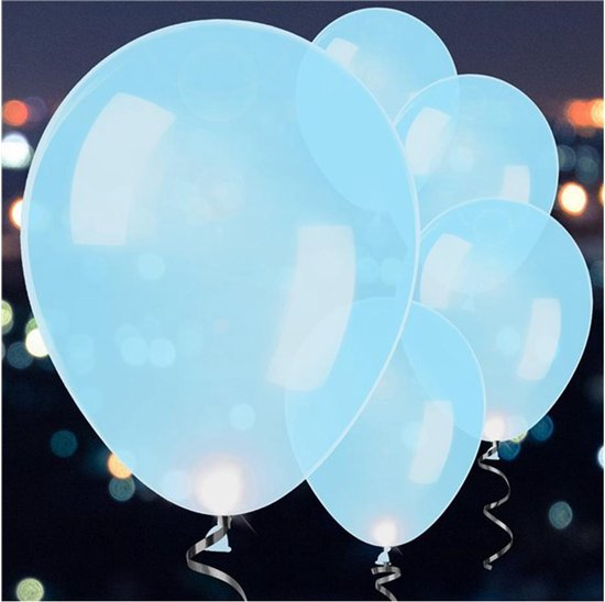 Ballonnen LED Blauw - 5 stuks