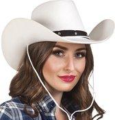 BOLAND BV - Wit cowboy hoed voor volwassenen - Hoeden > Overige