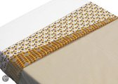 Taftan - Lakentje retro - 120 x 150 cm - geel-bruin