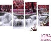 """Diamond Painting """"JobaStores®"""" Rode Waterval 4 luiks"""
