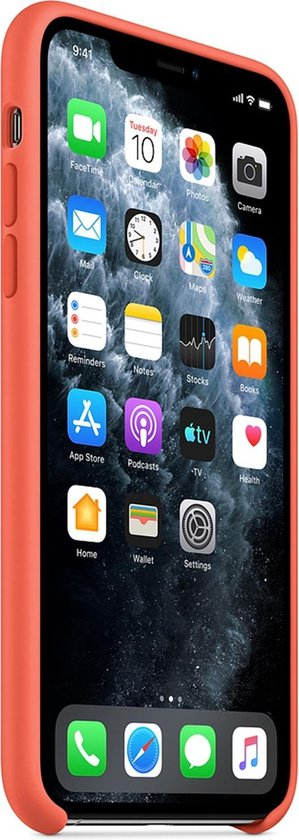 Apple Silicone Backcover iPhone 11 Pro Max hoesje - Clementine Orange