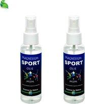 Magnesium sportolie+MSM van Himalaya magnesium   Magnesiumspray 2x 100 ml   Magnesium olie+MSM voor je spieren